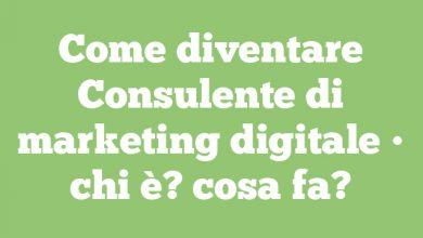 Come diventare Consulente di marketing digitale • chi è? cosa fa?